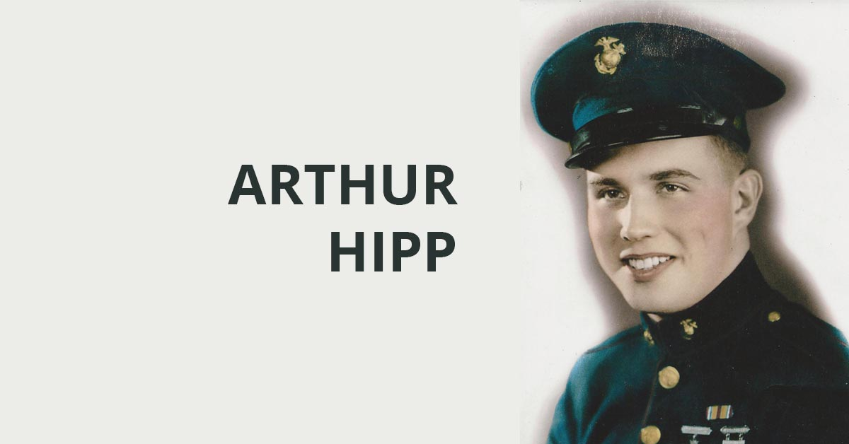 Photo of Arthur Hipp, USMC, in uniform