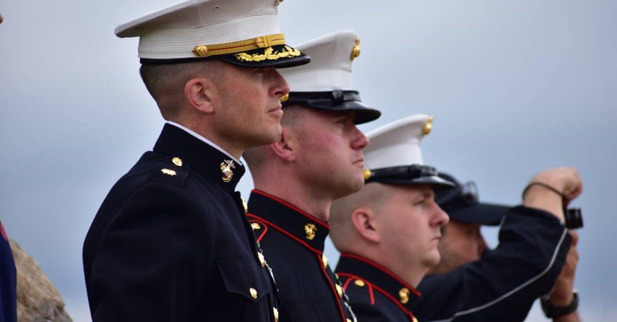 Memorial Day ceremony, 2021. USMC Memorial.